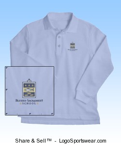 French Toast Youth Long Sleeve Pique Polo Design Zoom