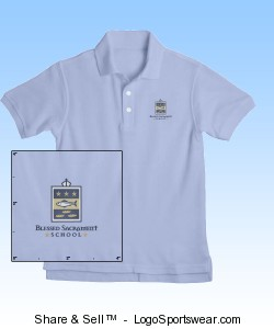 French Toast Youth Short Sleeve Pique Polo Design Zoom