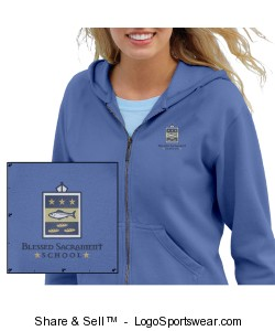 Adult Garment-Dyed Ladies' Full-Zip Hoodie Design Zoom