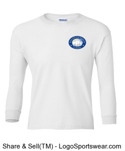 Youth Long Sleeve T-Shirt - Gildan 100% Heavyweight Ultra Cotton Design Zoom